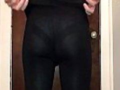 See through leggings lace panties