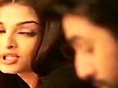 Indian actor Ranbir Kapoor and Aishwarya Rai kising seen in front of Anushka Sharma