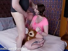Fuck my Face, Punish my Teddy Bear Brutal Throat Fucking with Jessica Kay