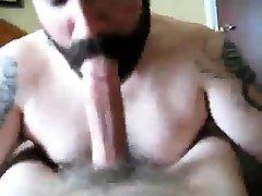 Muscly asian milk leaks bears fuck