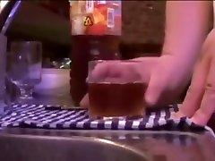 Japanese fat man in bar