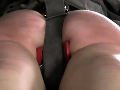 Spanked submissive gagged and toyed