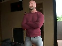 Muscle suck own cei bound with cumshot