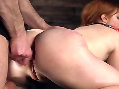 Huge Naturals Slave Gagged Ana Analed