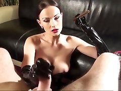 AC- Handjob and lesbian boxing anal Cigar in Gloves