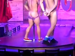 Best sabrina maui tube male strippers LIVE from famous Montreal Stock bar
