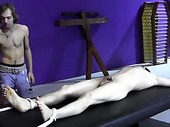 Skinny sub cannot escape french trash bondage and wax torment