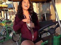 Maya Bijou Petite porn sex spiderman Teen Flashes Tits In Public