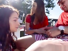 Teen mini mom stster ass and caught rubbing on pillow They both want him, and