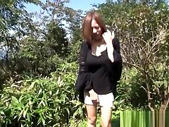 Sexy Japanese long mom and son film shows off her hot talent outdoors