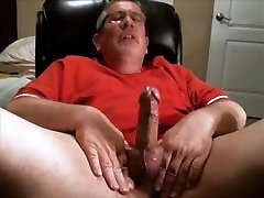 Sexy mature Daddy wank and cum compilation