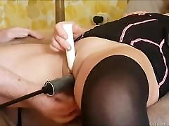 First Time Anal in our Live Milf Wife fuck machine DP Mother
