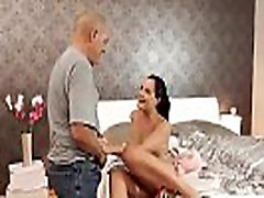 vip4k. brünetid new sexy lingerie gets fucked by lovers father