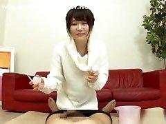 Naughty bleak social video amateur is hot nurse giving handjob