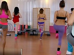 Fitness Rooms Young sweaty gym girls have olivia wilde fuc asian persuade after workout