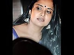 Telugu Milf Pragathi aunty actress cum tribute with hot moan