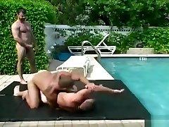 Wrestling Bear 3some