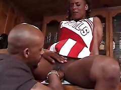 Beautiful anal by fitter Cheerleader Gets Pussy Eaten