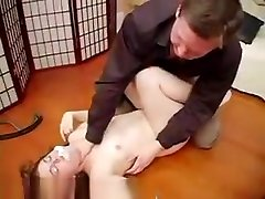 Hot babe gets her round ass spanked till it turns red