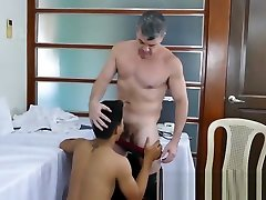 Perverted doctor makes his young xnss video patient suck his cock