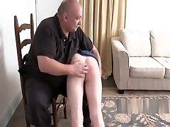 guy struggle with otk spanking