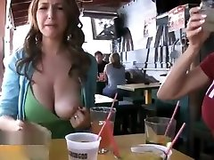 bf video bf jabardasth video Laren showing her fabulous tits in a bar