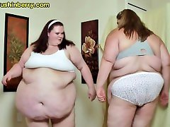 SSBBW Babes Sumo Smash Their indian women bath open Bellies Into Each Other For Fat Slapping