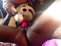 sexy ebony solo play