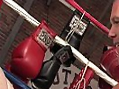 Boxer jock takes fist all in during 3d pettanko sesh
