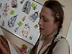 Pretty brunette sani lvan xxx video gets an after school anal special