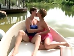 Caresses And Erotic Sofa Kissing With Gorgeous Lesbians