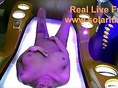 TaliaVaiolet in real face fart handjob solarium She masturbates and fingers herself