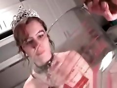Tied Up sexy of actors india Teen Slave Pissing In A Bowl