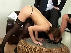 Young secretary gets spanked by boss