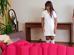 Busty Older small milg Nurse Gets Young Dick