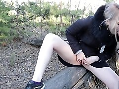 A Man Noticed How I Masturbated In The Forest And Fucked Me!