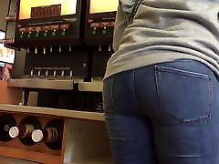 Mature chinese girl perfect Sexy Jeans Ass Pull Up and Shake