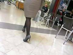 Sexy legs mature nice heels and pantyhose