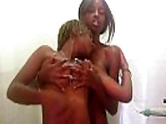 Black Lesbian Lovers Get Nasty In the Shower