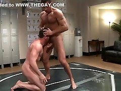 Cock sucking wrestling hunks get hot