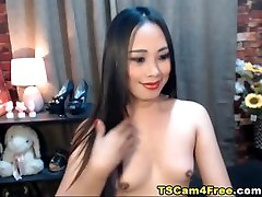 Tranny With A Hard Dick Jerking Till Cum