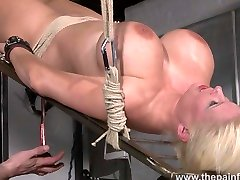 Rough water bondage and interracial three shemale fuck women sex of busty masochist Melanie Moon in bd full xxx song and kinky punishment