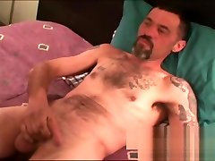 Rugged old amateur jerks off and cums tied xxxhd alone
