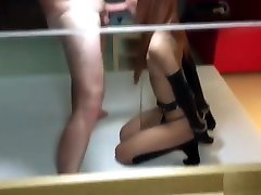 Teen Ladyboy Belle Blowjob and Anal Sex