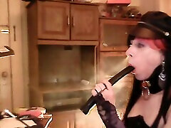Slut Kathy Holder And Leather Dildo Smoke