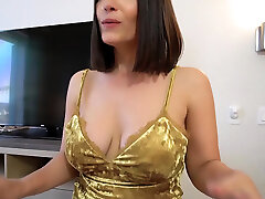 Goodbye fuck with my huge boobed cougar stepmother