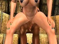 Hot 3D babe getting fucked hard by an ebony cowboy