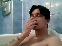 goth king alternative alone in bathroom telling story