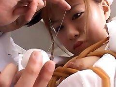 Pretty and popular Japanese AV Model enjoys being a gas blower nurse