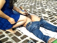 first time guy wank self friends having fun outdoor on the roof!